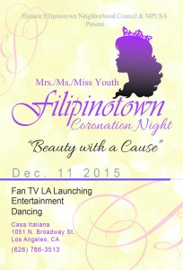"Historic Filipinotown  Neighborhood Council Launches ""Beauty With A Cause "" Project"
